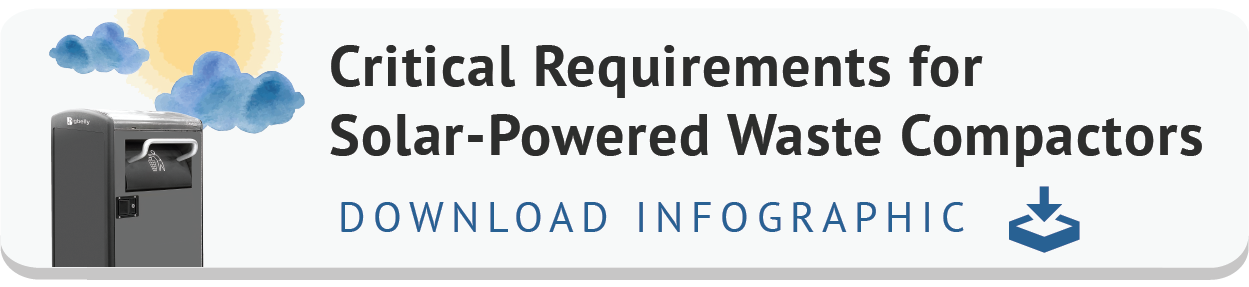 Download Infographic of 'Critical Requirements for Solar-Powered Waste Compactors'