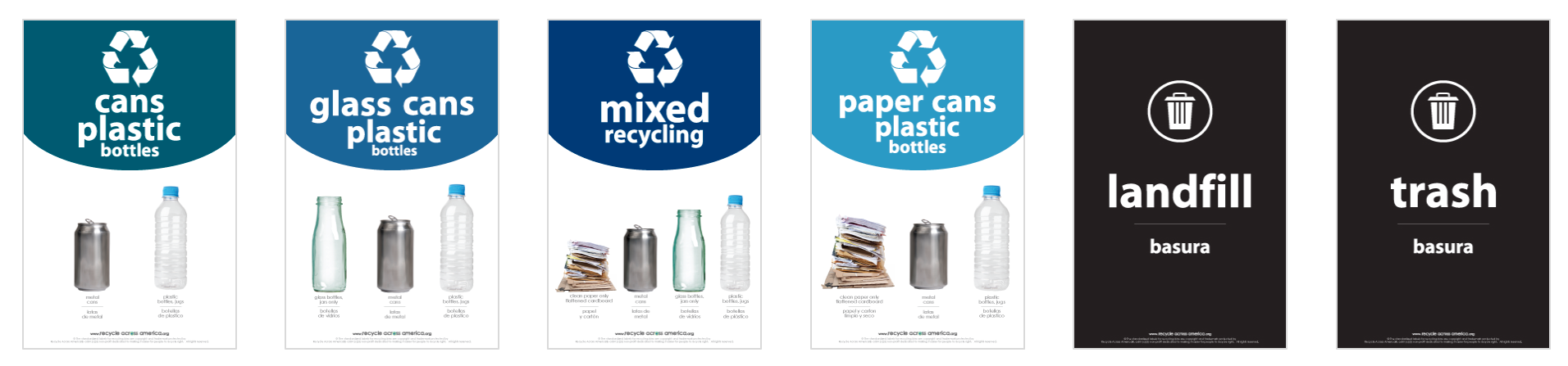 Standardized Recycling Labels for Bigbelly Bins