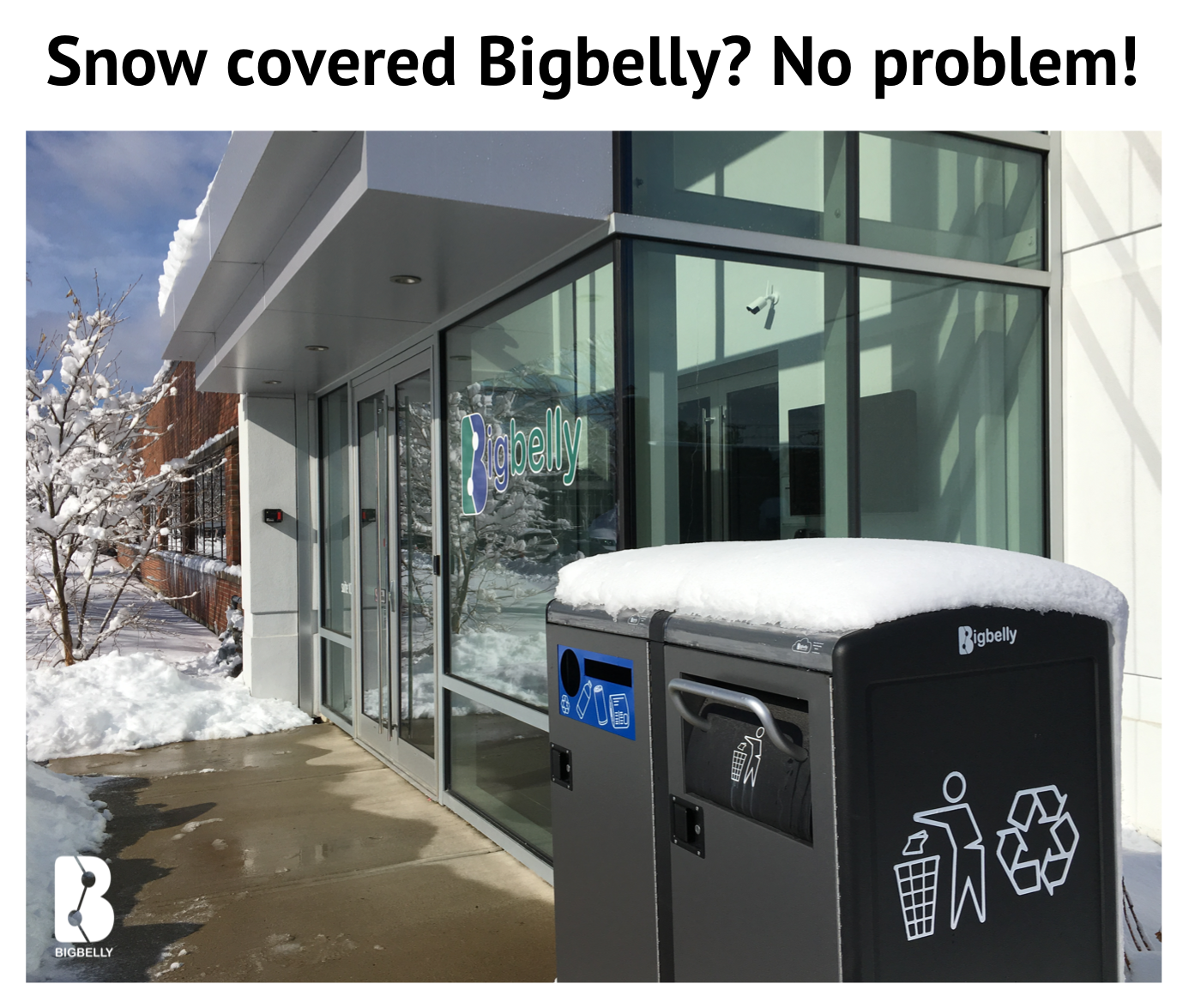 Snow Covered Bigbelly Continues to Do Its Job!